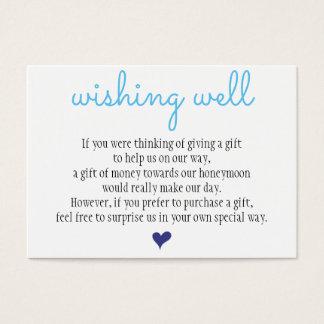 El casarse deseando la tarjeta bien