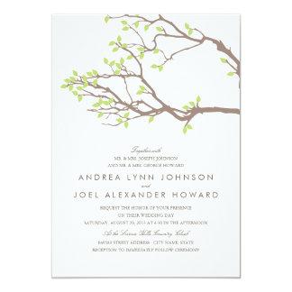El casarse dichoso de las ramas invitación 12,7 x 17,8 cm