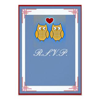 El casarse dulce de dos búhos invitación 8,9 x 12,7 cm
