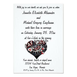 El casarse elegante de Las Vegas Invitaciones Personales