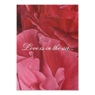 El casarse elegante elegante de los rosas rojos invitación 11,4 x 15,8 cm