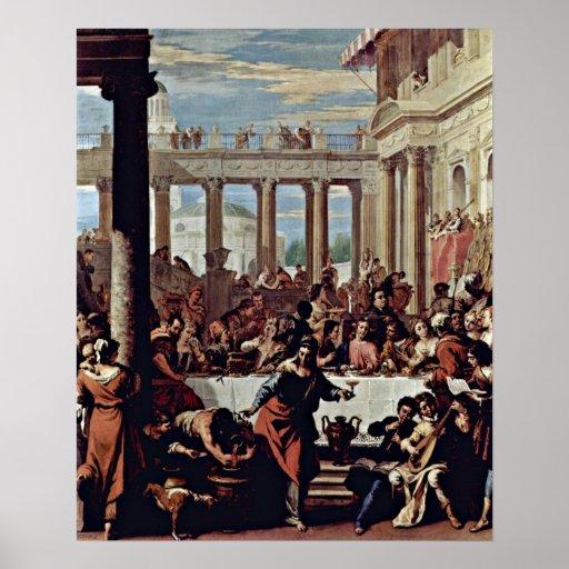 El casarse en Cana de Sebastiano Ricci Posters