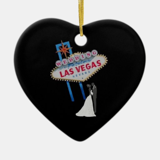 El casarse en el ornamento fabuloso de Las Vegas Ornato