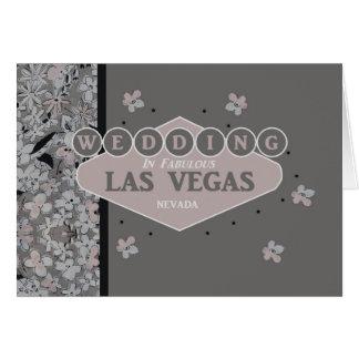 El casarse en la tarjeta de Las Vegas
