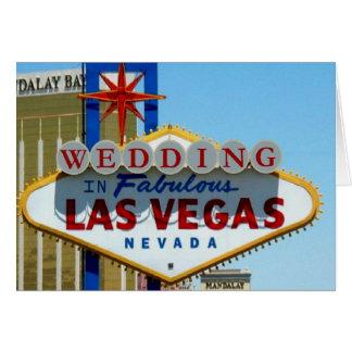 El CASARSE en la tarjeta fabulosa de Las Vegas
