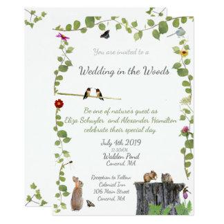 El casarse en las maderas: Invitación