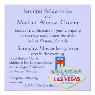 El casarse en Las Vegas Invitación 13,3 Cm X 13,3cm