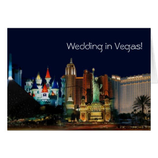 ¡El casarse en Vegas! Tarjeta
