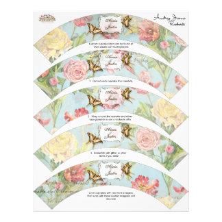 El casarse floral subió Peony de las flores del Folleto 21,6 X 28 Cm