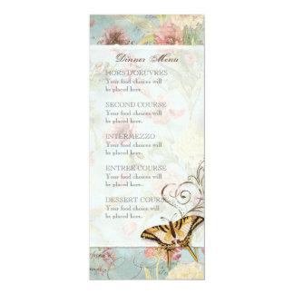 El casarse floral subió Peony de las flores del Invitación 10,1 X 23,5 Cm