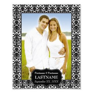El casarse - frontera blanco y negro del damasco fotos