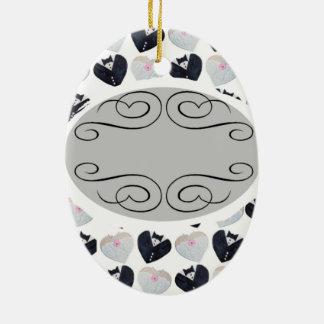 El casarse hasta el forever <3 adorno navideño ovalado de cerámica