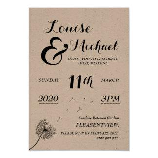 El casarse/invitación del compromiso invitación 8,9 x 12,7 cm