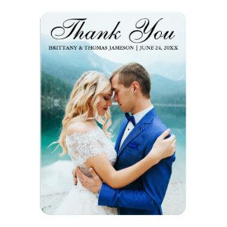 El casarse le agradece BTR moderno de la tarjeta Invitación 12,7 X 17,8 Cm