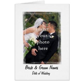 El casarse le agradece cardar la plantilla #1 tarjeta de felicitación