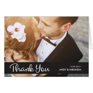 El casarse le agradece elegante simple de las tarjeta pequeña
