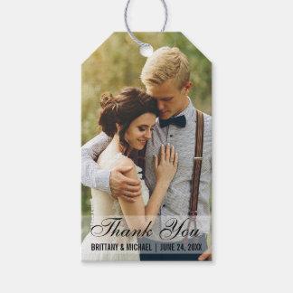 El casarse le agradece las etiquetas del regalo