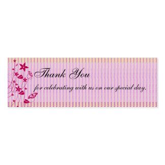 El casarse le agradece mariposa rosada y roja del tarjetas de visita mini