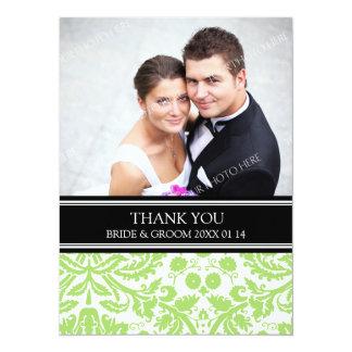 El casarse le agradece negro de la cal de las invitación 13,9 x 19,0 cm