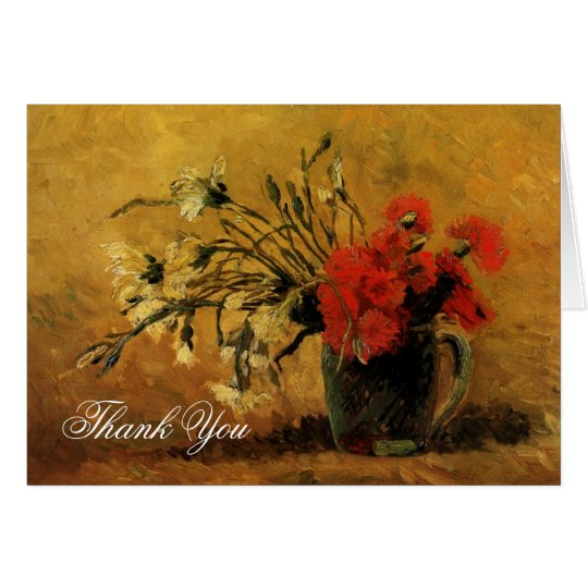 El casarse le agradece observar el clavel de tarjeta de felicitación