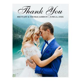 El casarse le agradece postal moderna BT de la