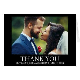El casarse le agradece tarjeta del doblez de la