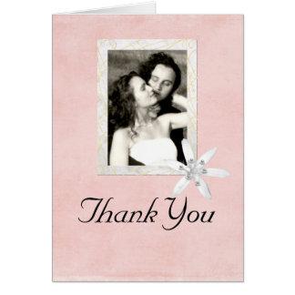 El casarse le agradece tarjeta del marco de la