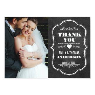 El casarse le agradece tarjeta moderna BW de la Invitación 12,7 X 17,8 Cm