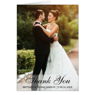 El casarse le agradece tarjeta plegable de la foto