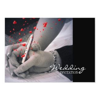 el casarse moderno de Las Vegas de los amantes de Invitación 12,7 X 17,8 Cm