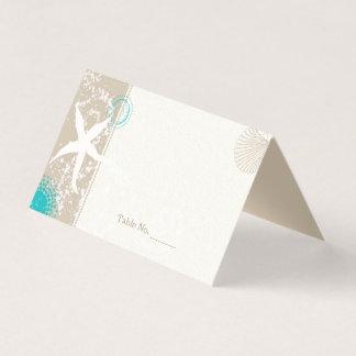 El casarse por la orilla tarjeta de asiento