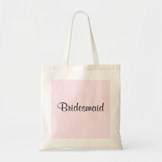 El casarse rosa claro de las rayas bolsa
