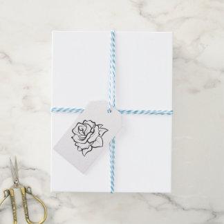 El casarse rosado y blanco de los corazones le etiquetas para regalos