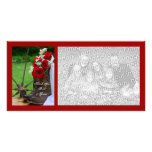 El casarse rústico de los rosas le agradece tarjet tarjeta personal con foto