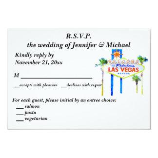 El casarse y recepción Las Vegas de RSVP Invitación 8,9 X 12,7 Cm
