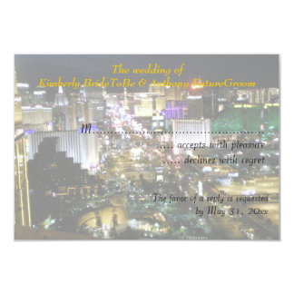 El casarse y recepción RSVP de Las Vegas Anuncio