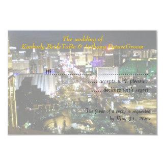 El casarse y recepción RSVP de Las Vegas Invitación 8,9 X 12,7 Cm