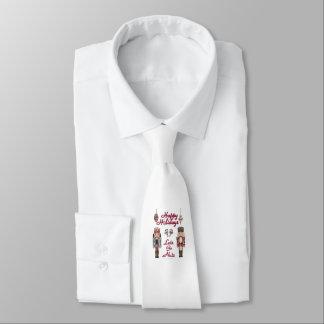 El cascanueces del navidad deja para ir las nueces corbata personalizada