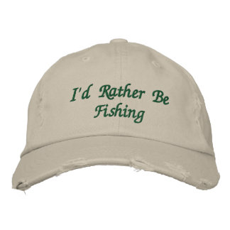 El casquillo bordado del pescador gorra bordada