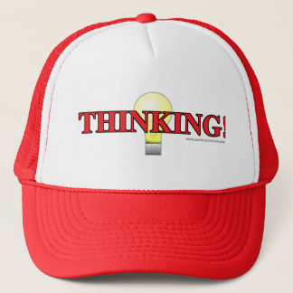 El casquillo de pensamiento gorra de camionero