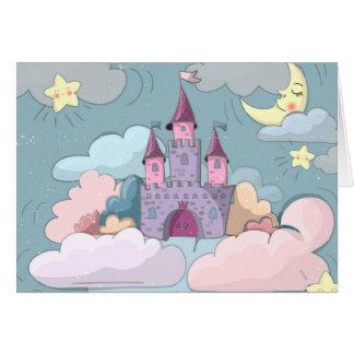 El castillo de hadas embroma la tarjeta de