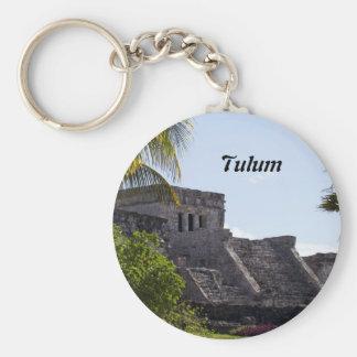 El Castillo de Tulum - ruinas mayas Llavero Redondo Tipo Chapa