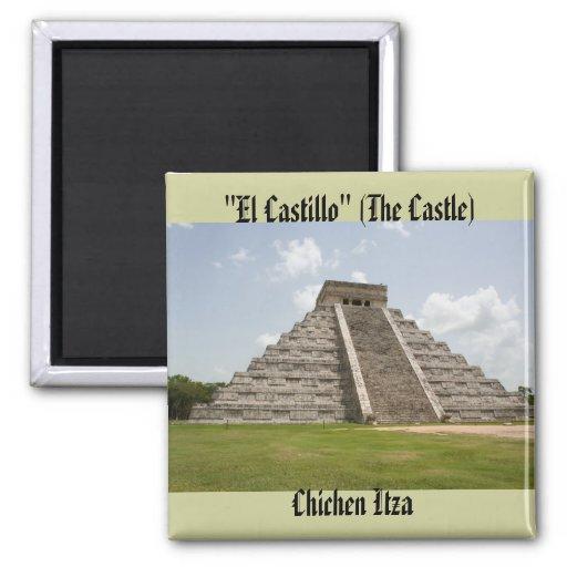 """""""EL Castillo"""" (el castillo) en Chichen Itza Imán Para Frigorífico"""