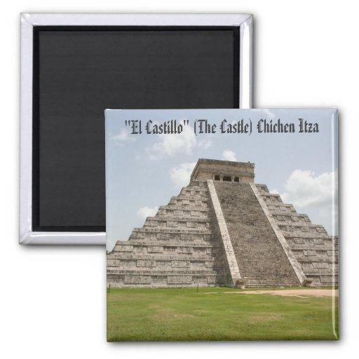 """""""EL Castillo"""" (el castillo) en Chichen Itza Imanes De Nevera"""