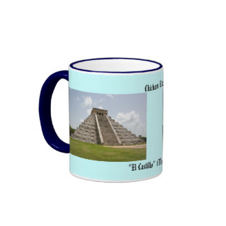 """""""EL Castillo"""" (el castillo) en Chichen Itza Tazas"""