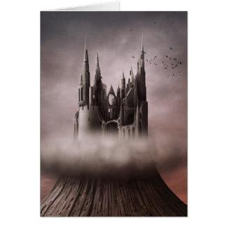 El castillo gótico arruina la tarjeta de nota