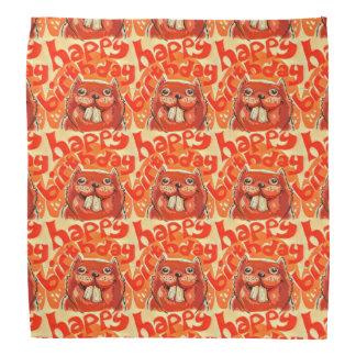 el castor dice feliz cumpleaños bandana