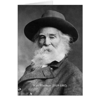 El ❝Celebrate mismo de Whitman, y canta el poema Tarjeta De Felicitación