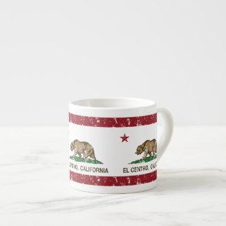 EL Centro de la bandera del estado de California Taza Espresso