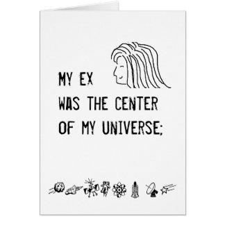El centro de mi universo - tarjeta